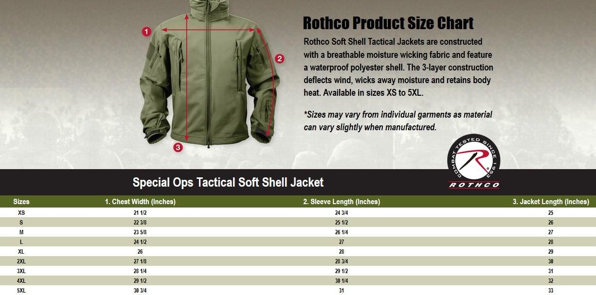 Rothco Campera operaciones especiales táctico Soft Shell 9