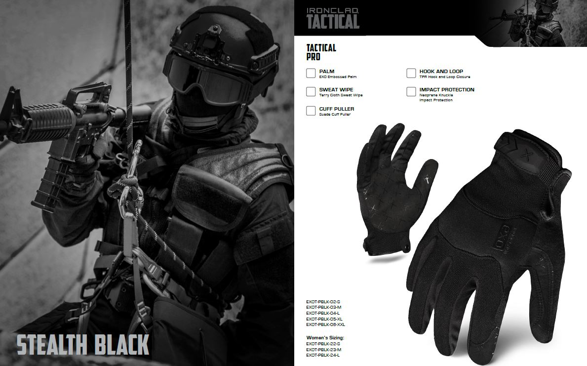 Guantes Ironclad EXO TACTICAL PRO 3