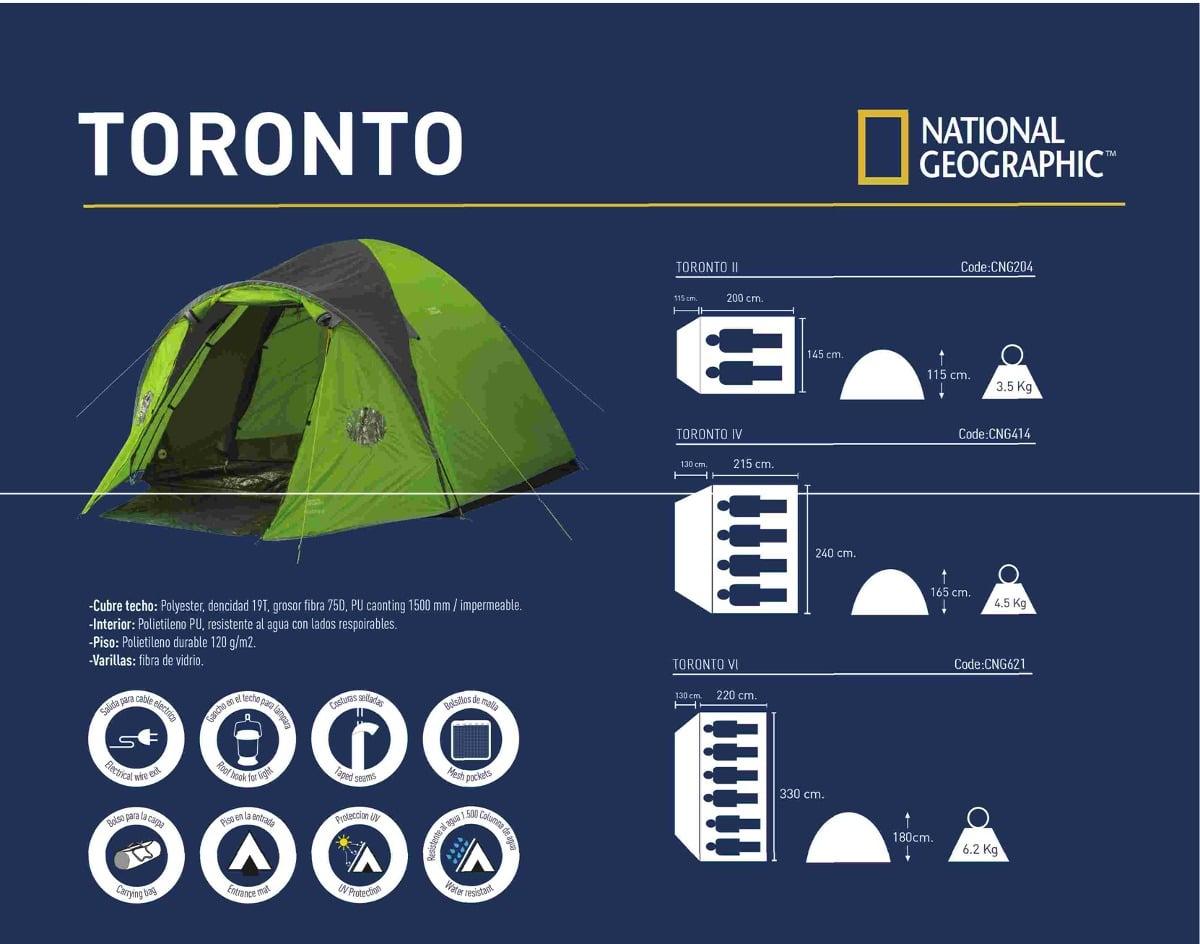 Carpa National Geographic Toronto VI Para 6 Personas 8