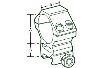 Anillas UTG 30mm Altas Picatinny Weaver Leapers 3