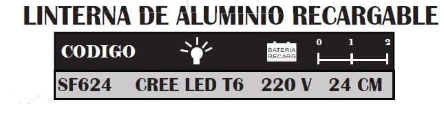 Linterna Recargable Cree Led T6 Safari 5