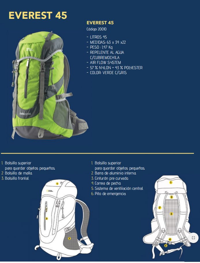 Mochila National Geographic Everest 45 litros 4
