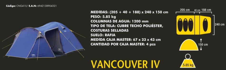 CARPA IGLU National Geographic VANCOUVER IV 4 PERSONAS 3