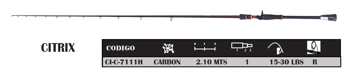 Caña Okuma Citrix Casting Carbon 210 Mts 1 Tramo 4