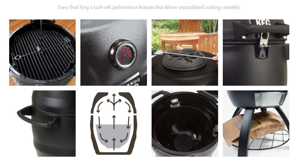 Barbacoa a Carbon portatil Broil King® Keg® Kamado 2000 6