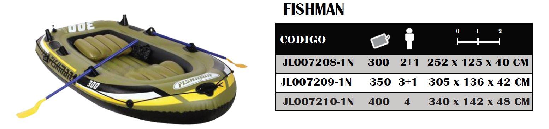 Bote Gomon Inflable FISHMAN 300 2+1 5