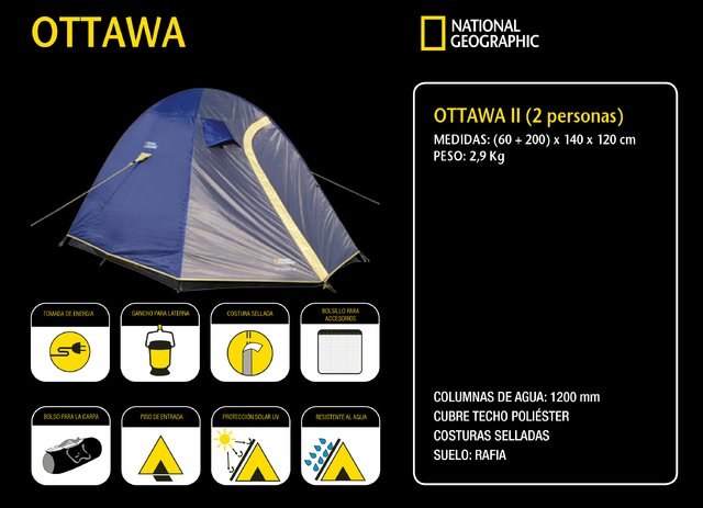 Carpa National Geographic Ottawa II  Para 2 Personas 3
