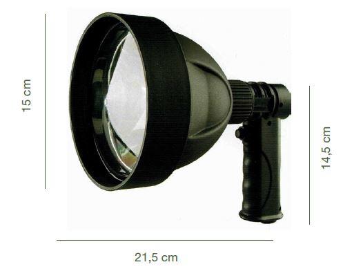Foco De Mano Reflector Con Led T6 de 15 Watts 4