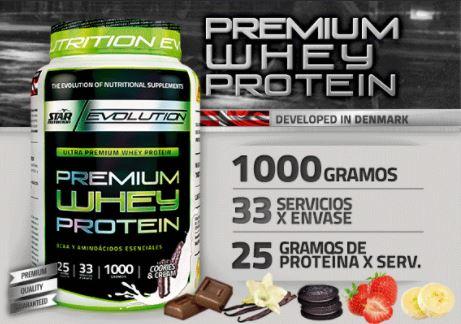 Proteina Star Nutrition Premiun Whey Protein 1kg 2
