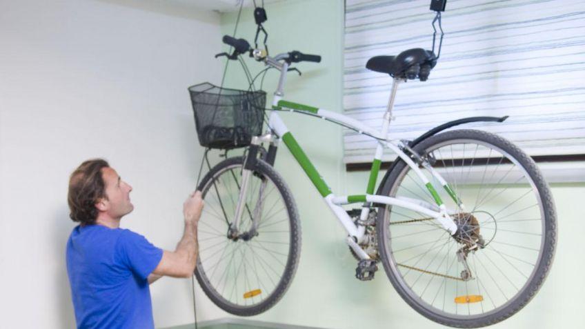 Sistema Para Colgar Bicicletas Del Techo Garage Elbunkker - Colgar-bici-techo