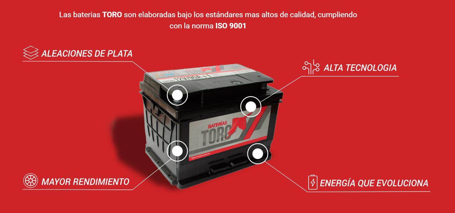 Bateria de arranque Toro 65 Amperes 12V Auto Camioneta 2