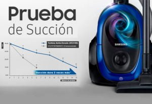 Aspiradora Con Turbina Anti-Enredo 2100 Watts Azul Samsung 4