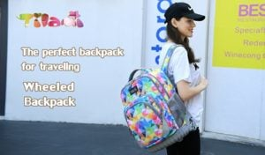 """Mochila""""Tilami Rolling Backpack Armor"""" Multifuncion con ruedas y manija 8"""