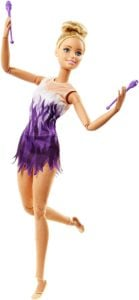 Movimientos Deportivos Barbie Doll Gimnasta rítmica ultra flexible, ¡provista de palos! 8