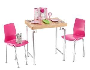 BARBIE - MUEBLES Y ACCESORIOS DE EXTERIORES - Muebles, Mesa y sillas casa de muñecas 6