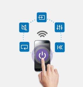 Samsung - Barra de sonido inalámbrica 2.2 con Potencia 80W funciones controladas desde tu Movil 8