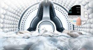 LAVARROPAS con AddWash™ SAMSUNG CARGA FRONTAL, con Cap. de 10.5 kg Color Inoxidable 12