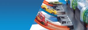 Juego de rieles Hot Wheels® Corkscrew Crash ™ 27