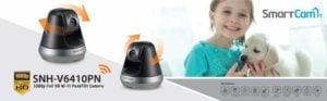 SAMSUNG - CÁMARA DE VIGILANCIA SNH-V6410PN 1080P Full HD Resolution Wi-Fi Pan/Tilt Smart 9
