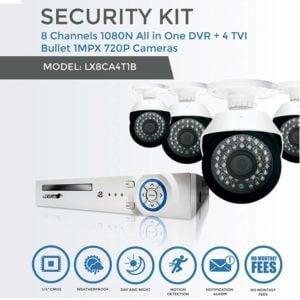 Sistema de Camaras de Seguridad con 4 CÁMARAS HD LOGAN 19
