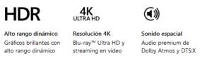 """CONSOLA Xbox One S 1TB """"El mejor valor en juegos y entretenimiento"""" 50"""